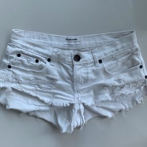 One Teaspoon white bonita shorts